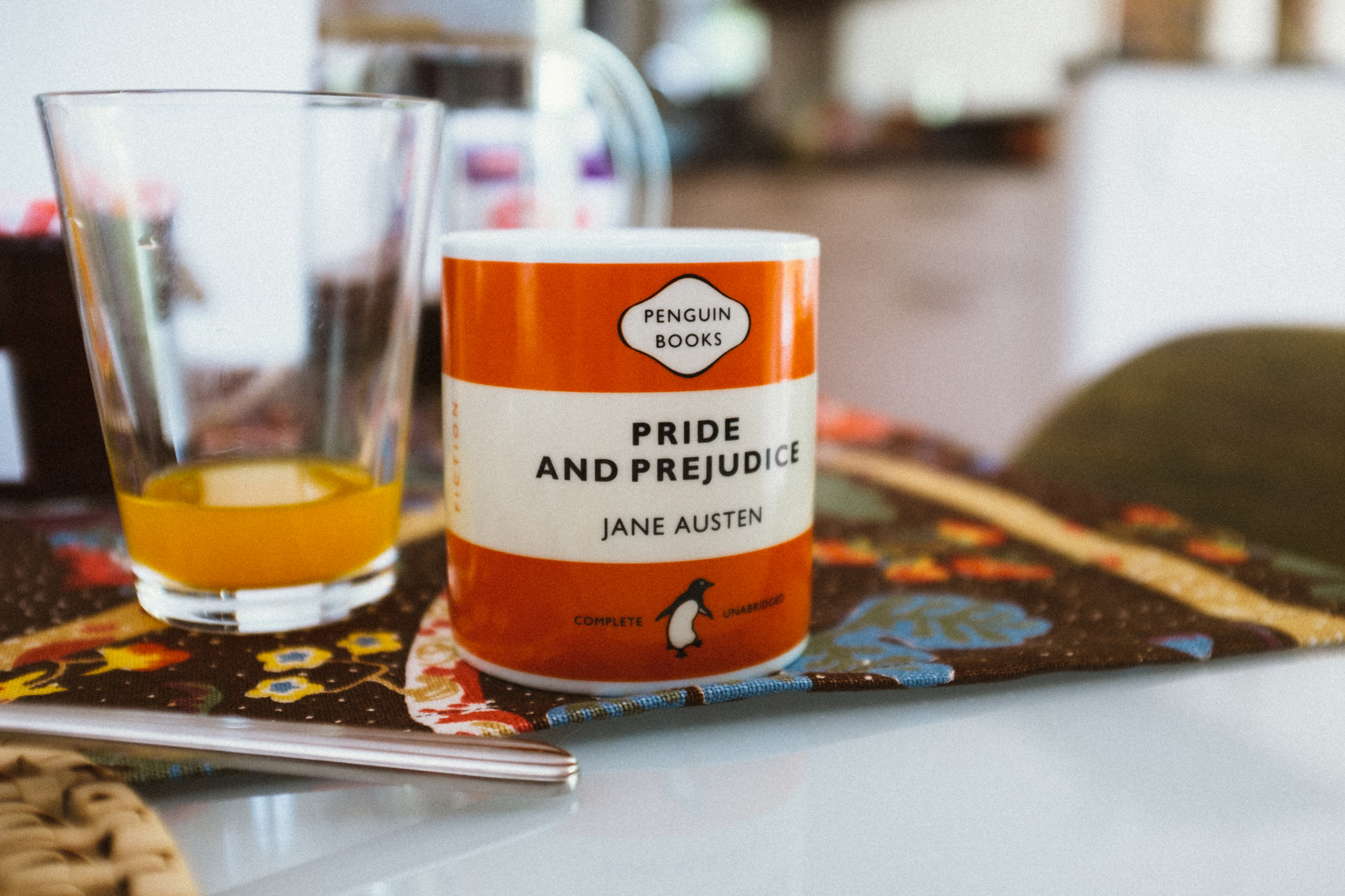 So many penguin books in the house and mugs to match. <3